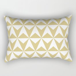 Mid Century Modern Triangle Pattern 531 Gold Rectangular Pillow