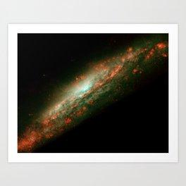 Hubble Space Telescope - Baby Burp in Galaxy's Core (Galaxy View) Art Print