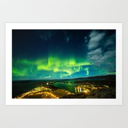 Lights over Lauvsnes Art Print