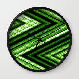 Zig Zag Pattern green Wall Clock
