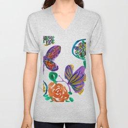 Floral medley Unisex V-Neck