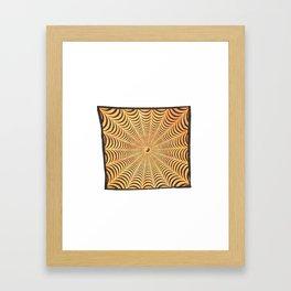 Yellow Yin Yang Spiral tapestry wall hangings Framed Art Print