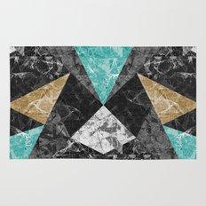 Marble Geometric Background G430 Rug