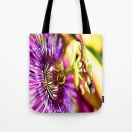 Passion Flower Bee  Tote Bag