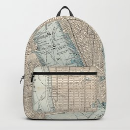Vintage Map of New York City (1893) Backpack