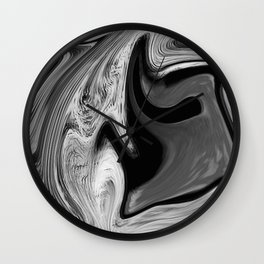 CONFUSE - BLACK Wall Clock