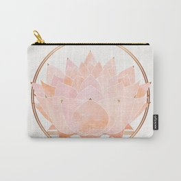 Blush Zen Lotus ~ Metallic Accents Carry-All Pouch