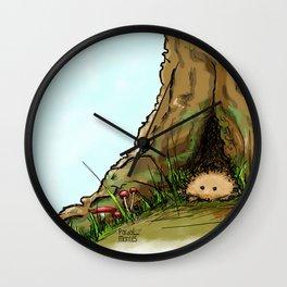 Peekink Hedgehog Wall Clock