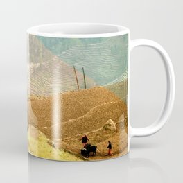 Go travel the world - rice field and geometric typography art Coffee Mug