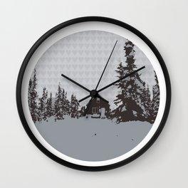 cabin love Wall Clock