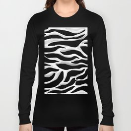 Black and white, abstract zebra, animal print Long Sleeve T-shirt
