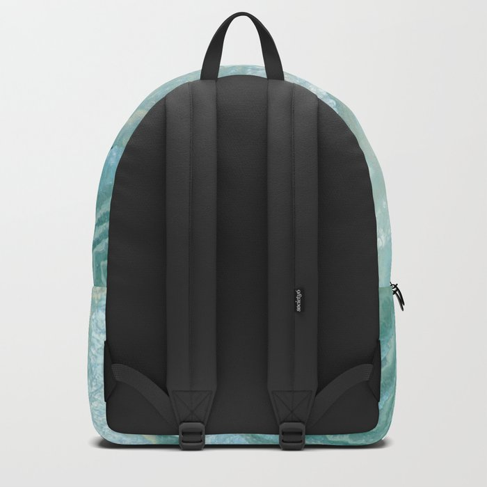 """Aquamarine Pastel and Teal Agate Crystal"" Rucksack"