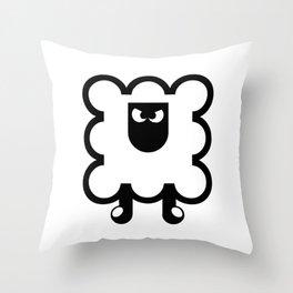 Angry Sheep Throw Pillow