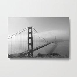 The Golden Gate Bidge In A Mist Metal Print