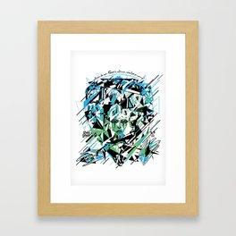 Street Diamond Framed Art Print