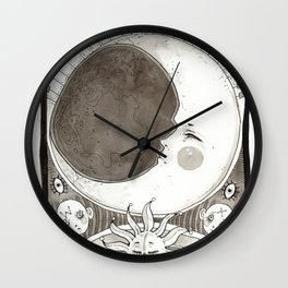 alpha beta gamma Wall Clock