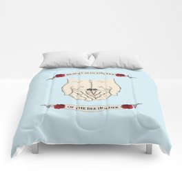 Beauty is in the eye of the bee holder Comforters