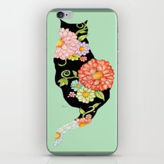 Elegant Kitty Silhouettes iPhone Skin