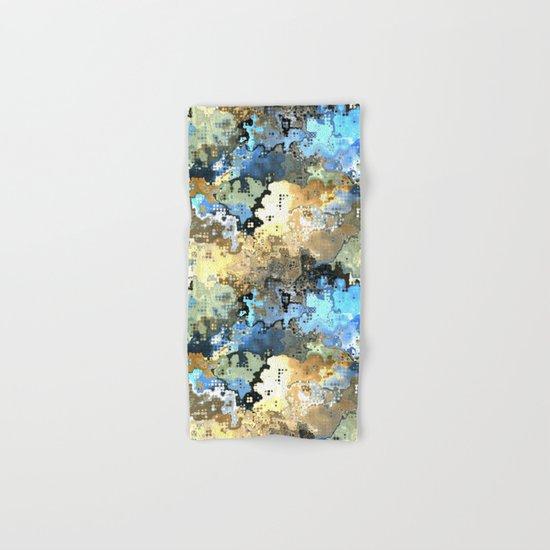 Golden Blue Abstract Hand & Bath Towel