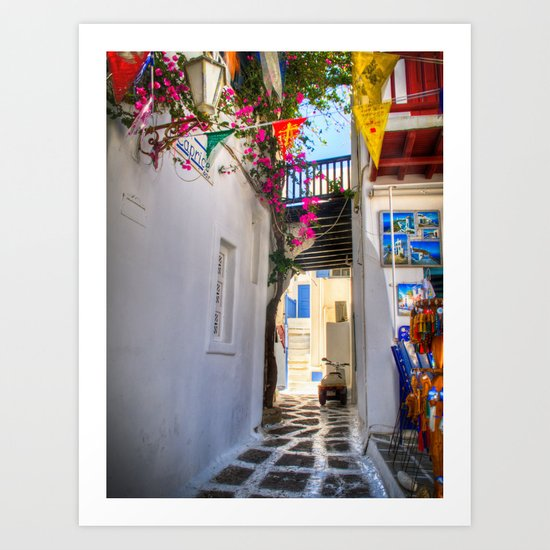 Greece Santorini Island Art Print