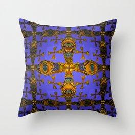 Harmony Elegant Cross Mandala Throw Pillow