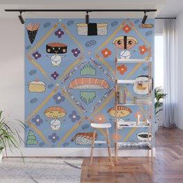 Japanese Kawaii Sushi Nodders Bobbleheads Wall Mural