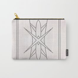 Modern Abstract Pattern over black marble Carry-All Pouch