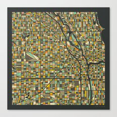 CHICAGO MAP Canvas Print