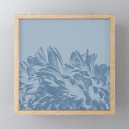 Dusty Blue Positive Negative Framed Mini Art Print