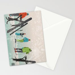 Skiers Summit Stationery Cards