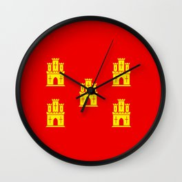 flag of Poitou Wall Clock