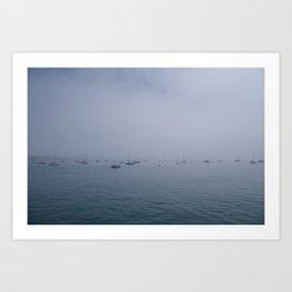 Boats in the Fog Art Print