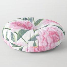 Pink Peonies Floor Pillow