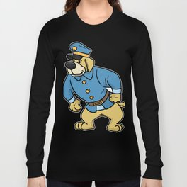 police policeman officer gift security guard law Long Sleeve T-shirt