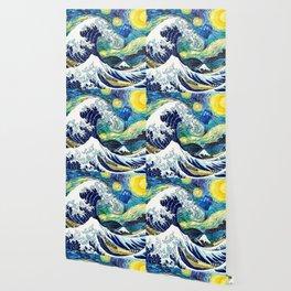 Tardis Starry Wave Night Wallpaper