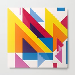 Abstract modern geometric background. Composition 20 Metal Print