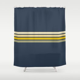 Gracia - Classic 60s Retro Stripes Shower Curtain