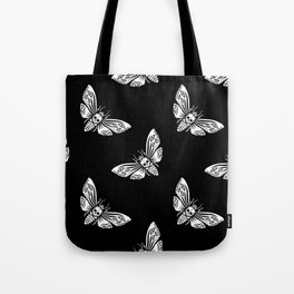 Night moth with skull Tote Bag