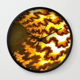 Sutured Ammonite Wall Clock