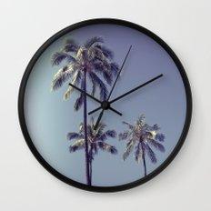 palm trees ver.retro Wall Clock