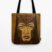 watchmen Tote Bags featuring It's Always Sunny in Watchmen - Sweet Dee by Jessica On Paper