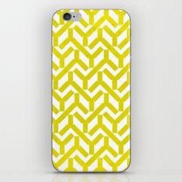 Yellow Geometry Pattern iPhone Skin