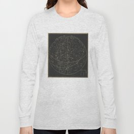 Vintage Astronomical & Celestial Map (1850) Long Sleeve T-shirt