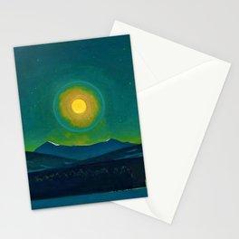 Winter Moonlight Mountain Landscape by Rockwell Kent Appalachian Stationery Cards
