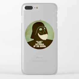 Beard Vader Clear iPhone Case