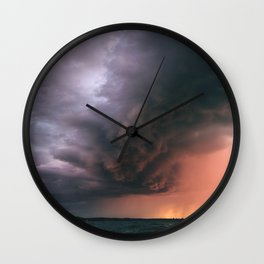incoming storm Wall Clock