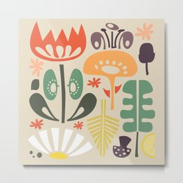 Scandinavian Wildflowers Metal Print