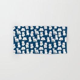 Westies on Blue Hand & Bath Towel