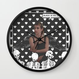 Emma Roberts/Madison Montgomery Edit Wall Clock