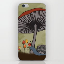What's Underfoot -- Snail & Mushrooms iPhone Skin